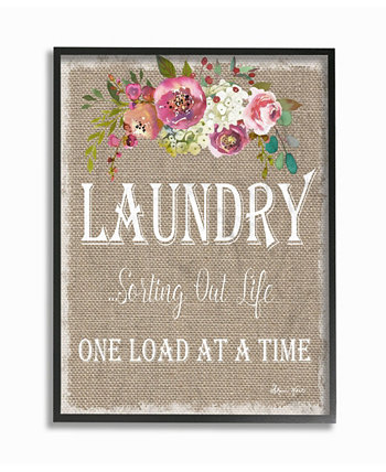 "Floral Linen Laundry Sorting Life Framed Giclee Art 24"" L x 1.5"" W x 30"" H Stupell Industries"