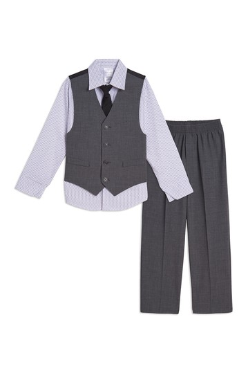 Bi Stretch Vest 4-Piece Set (Little Boys) Calvin Klein