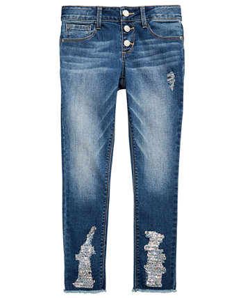 Big Girls Ripped Frayed Jeans Imperial Star