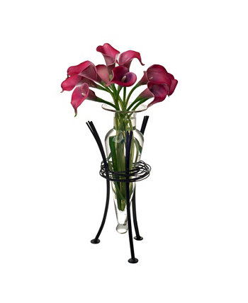 Clear Amphora Vase with Wire Stand Danya B