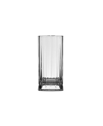 Wayne High Ball Glass, Set of 4 Nude Glass