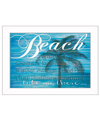 "Take Me There By Cindy Jacobs, Printed Wall Art, Ready to hang, White Frame, 14"" x 10"" Trendy Décor 4U"