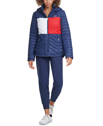 Colorblocked Puffer Jacket Tommy Hilfiger