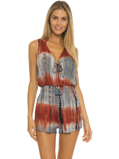 Tide Pool Rayon Short Romper Cover-Up BECCA by Rebecca Virtue