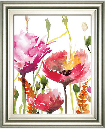"""Blooms and Buds by Rebecca Meyers Framed Print Wall Art - 22"""" x 26"""" Classy Art"""