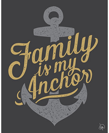 """Family is my Anchor Nautical Quote 24"""" x 36"""" Metal Wall Art Print Creative Gallery"""