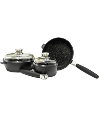 "Eurocast Non-stick 10"" Sq. Cov Saute Pan Set, 3 Pieces BergHOFF"