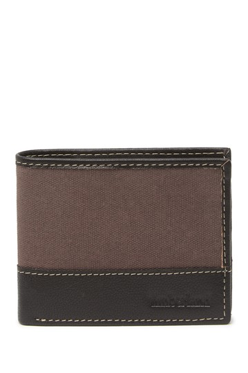 Canvas & Leather Bifold Wallet Timberland