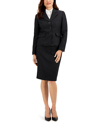 Striped Tweed Skirt Suit Le Suit