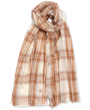 Herringbone Plaid Wrap Scarf Ralph Lauren