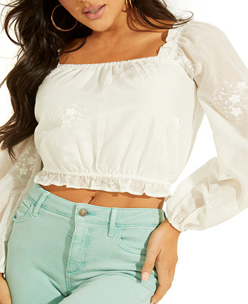 Cassie Embroidered Crop Top GUESS