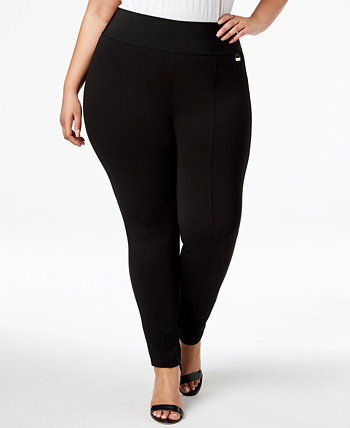 Plus Size Pull-On Skinny Compression Pants Calvin Klein