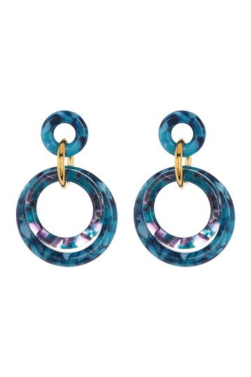 Double Ring Drop Earrings Lele Sadoughi