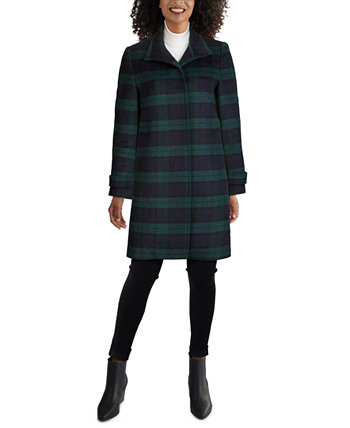 Single-Breasted Plaid Coat Jones New York