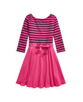 Big Girls Striped Ponte Dress Ralph Lauren