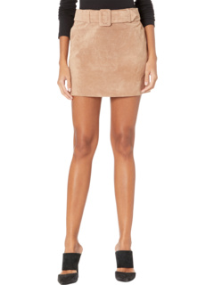 Real Suede Miniskirt with Belt Blank NYC