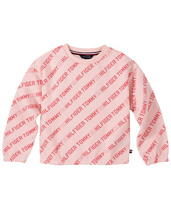 Little Girl's All-Over Printed Crewneck Sweatshirt Tommy Hilfiger