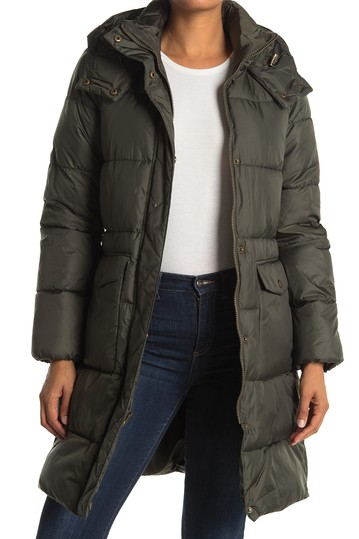 Faux Down Long Hooded Parka Lucky Brand