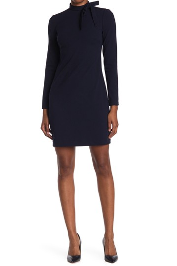 Tie Neck Long Sleeve Dress Calvin Klein