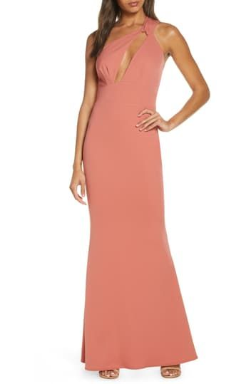 Edgy One-Shoulder Sleeveless Gown KATIE MAY