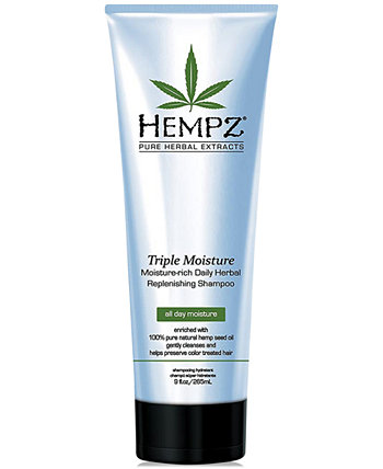 Triple Moisture Herbal Shampoo, 9-oz., from PUREBEAUTY Salon & Spa Hempz
