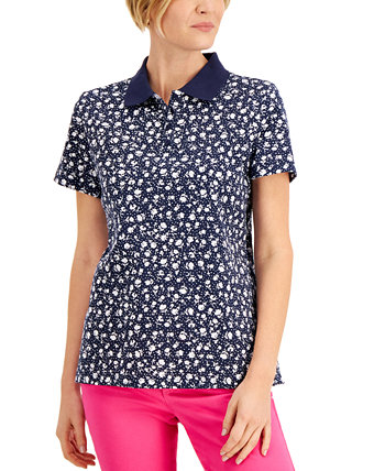 Floral-Print Polo, Created for Macy's Karen Scott