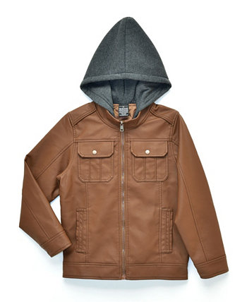 Big Boys Raging Biker Jacket with Fleece Hood, Made For Macy's Ring of Fire