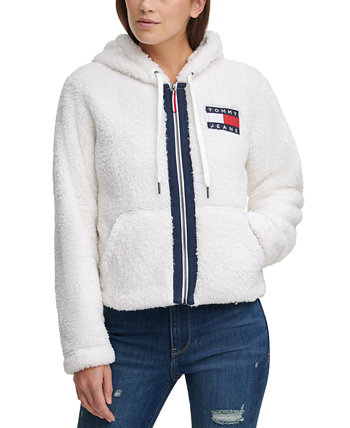Cropped Fleece Zip-Up Hooded Jacket Tommy Jeans