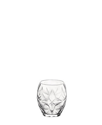 Oriente Double Old Fashioned 17 oz. Clear Glasses Set of 6 Bormioli Rocco