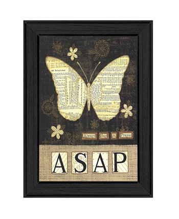 "Always Say a Prayer By Annie LaPoint, Printed Wall Art, Ready to hang, Black Frame, 15"" x 19"" Trendy Décor 4U"