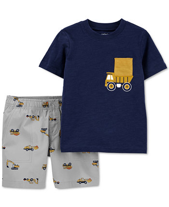 Baby Boys 2-Pc. Truck Cotton T-Shirt & Shorts Set Carters
