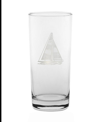 Sailboat Cooler Highball 15Oz - Set Of 4 Glasses Rolf Glass