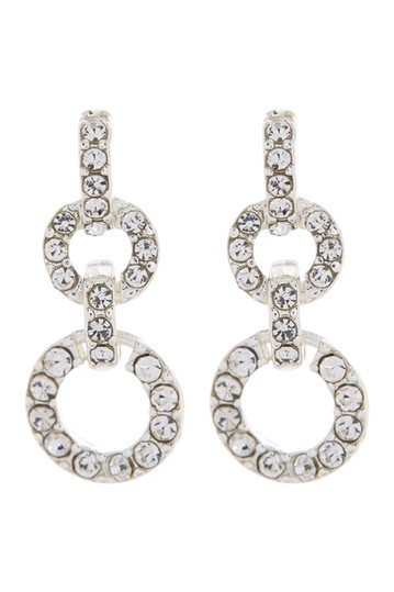 Silver-Tone Crystal Pave Double Drop Earrings Ralph Lauren