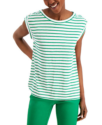 Linen Striped Top, Created for Macy's Charter Club