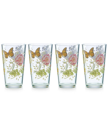 Butterfly Meadow Collection Acrylic Highball Glasses, Set of 4 Lenox