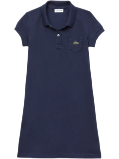 Classic Pique Dress with Pocket (Toddler/Little Kids/Big Kids) Lacoste Kids
