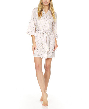Women's Katrina Printed Charmeuse Wrap Flora Nikrooz Collection