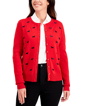 Scottie Button Sweater, Created for Macy's Charter Club