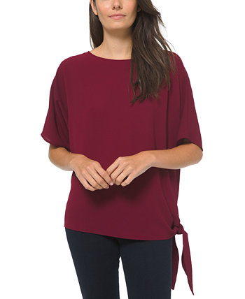 Side Tie Boat Neck Top Michael Kors