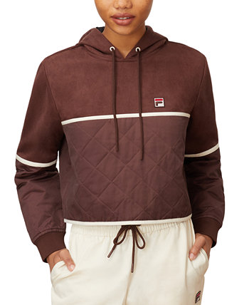 Ivy Quilted Twill Hoodie Fila
