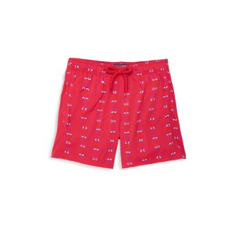Little Boy's & Boy's Glow-In-The-Dark Swim Shorts VILEBREQUIN