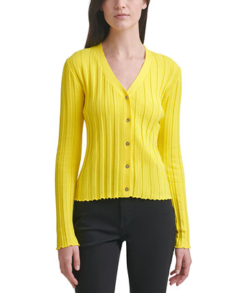 V-Neck Cotton Cardigan Calvin Klein