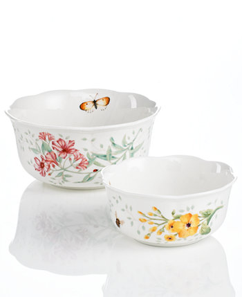Butterfly Meadow Set of 2 Nesting Bowls Lenox