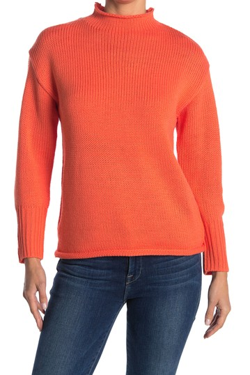 Knit Mock Neck Pullover FOR THE REPUBLIC