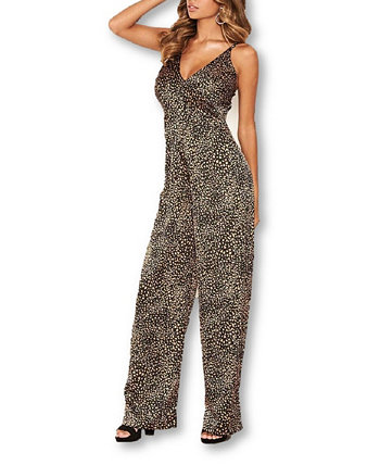 Women's Printed Cami V-Neck Jumpsuit AX Paris