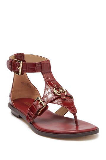 Preston Croc Embossed Sandal Michael Kors