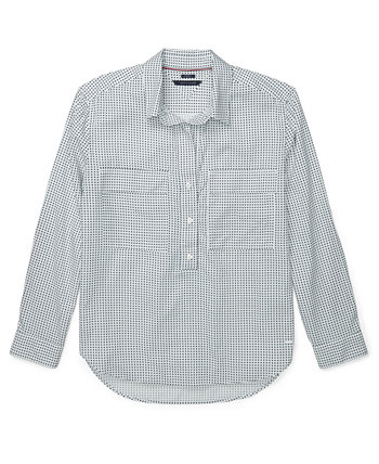 Dot-Print Button-Front Top Tommy Hilfiger