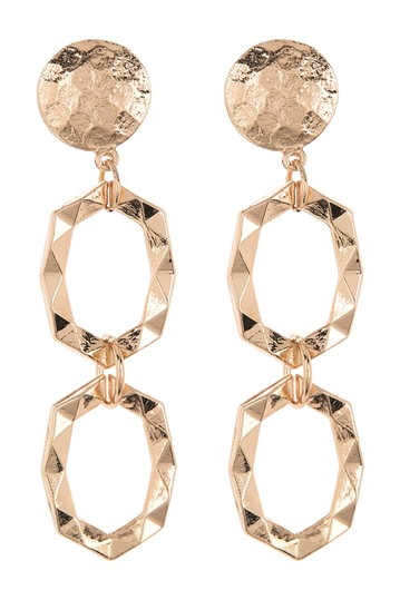 Geo Drop Link Earrings AREA STARS