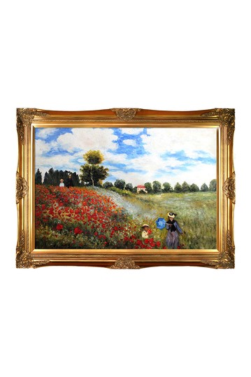 Poppy Field in Argenteuil by Monet Framed Hand Painted Oil on Canvas No brands