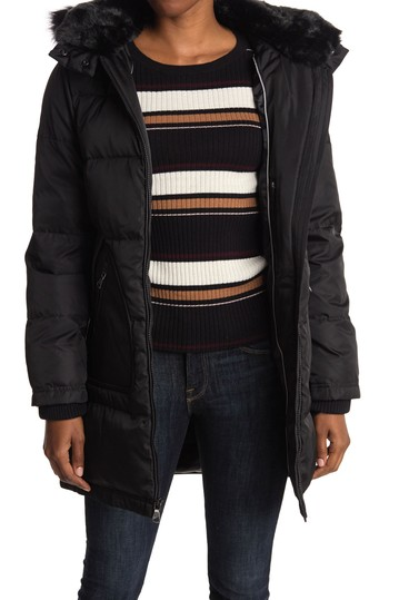 Faux Fur Trim Hooded Down Jacket Vince Camuto